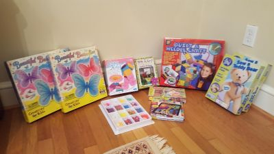 Crafts in a box knitting, sewing, magnets, beading,...