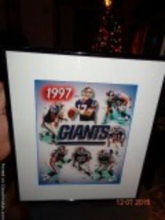 NY GIANTS FRAMED PICTURE