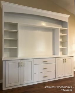Custom Entertainment Center by KENNEDY WOODWORKS