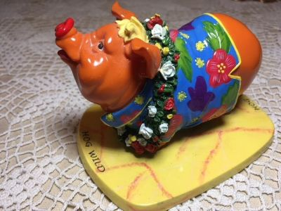Pig by Invasion Titled HOG WILD Hawaiian Clothes Cute