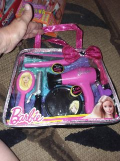 Barbie Hairstyling Set with working hair dryer