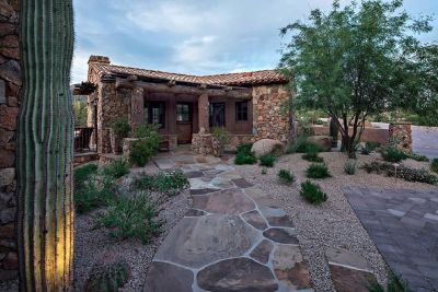 Outdoor fireplace in Arizona