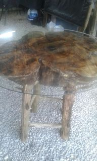 Hand made from wood table