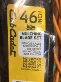 46 Blades for cub cadet mower