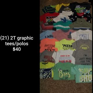(21) 2T graphic tees/polos