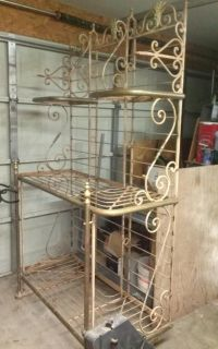 125 yr old 8x4 ft bakers rack Paris France makers mark stamped on it