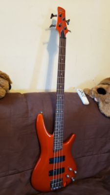 IBANEZ SRGR SOUNDGEAR SR300 GUITAR BASS MADE IN INDONESIA IN ROASTER ORANGE COLOR