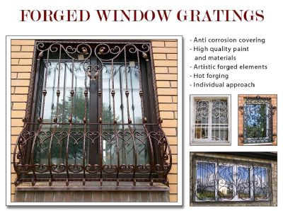 Forged window gratings