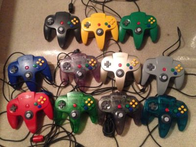 Nintendo 64 Controllers of all colors