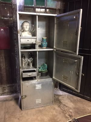 Rare Industrial Naval Cabinet from Submarine