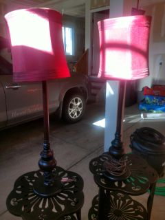 Lamps with Red Shades