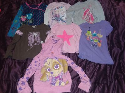 Girls Size 5/6 7 tops total