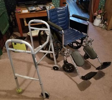 Wheel chair/walker bundle