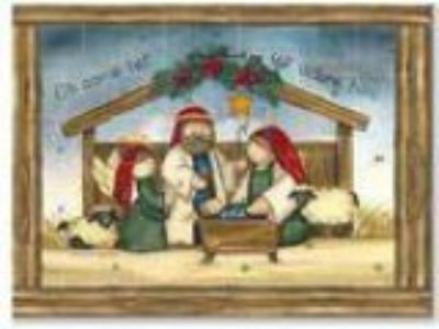 O Come Let Us Adore Him Holy Family Christmas Advent Calendar