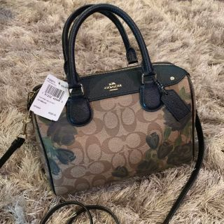 Coach Bennett Satchel with Camo Rose Floral Print. NEW WITH TAGS!