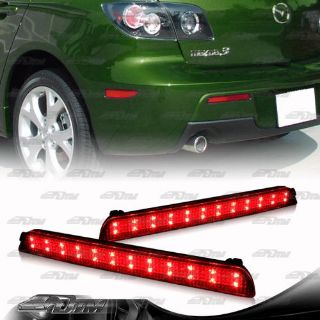 Find Red Lens LED Rear Bumper Reflector Brake Lights For 04-09 Mazda 3 Mazdaspeed 3 motorcycle in Rowland Heights, California, United States