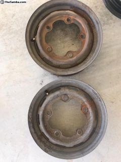 1 pair 66-67 stock rim (bare metal)