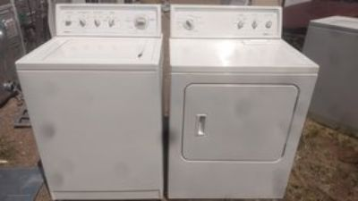 Kenmore washer and dryer with extras