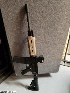 "For Sale: AR15- 14.75"" upper with Spikes Tactical Lower. Magpul hand-guard, Bushnell Optics"