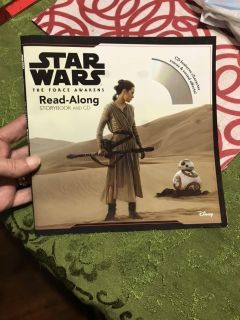 New, Star Wars, The Force Awakens.. read along storybook with CD