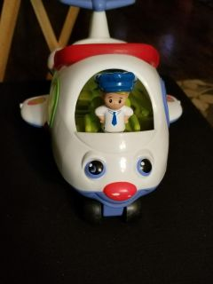 Little people airplane with pilot
