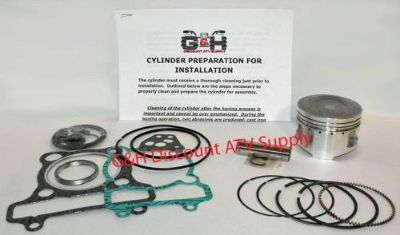 Sell Yamaha YFM250 Big Bear Cylinder Machining Service & Top End Rebuild Kit YFM 250 motorcycle in Somerville, Tennessee, United States, for US $156.95