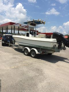 22' Triton center console Fishing boat, 225Hp outboard, $13590!