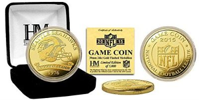*** SEATTLE SEAHAWKS Established in 1976 H.M. Gold coin with C.O.A ***