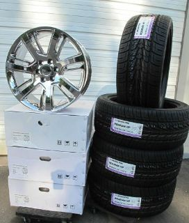 "Purchase 22"" CADILLAC ESCALADE FACTORY STYLE CHROME 4 WHEELS RIMS 305-40-22 TIRES 4738 motorcycle in Walled Lake, Michigan, United States, for US $1,979.99"