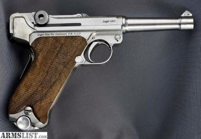 For Sale: Luger 1907 Stainless Steel in 45 ACP Reproduction of DWM . Functions like 1906 Model but in 45ACP