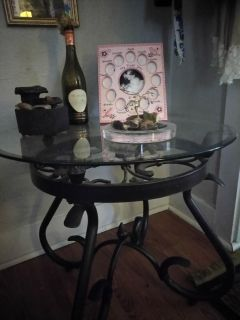 2 Glass top end tables