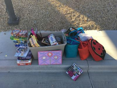 Free girls clothes, stuffed animals, puzzles, games