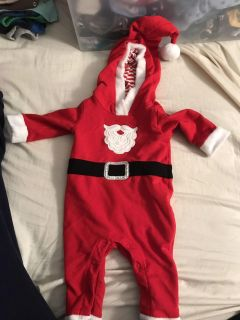 Santa outfit baby 0-3 months