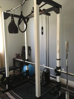 Club Weider weight set with weights and bench