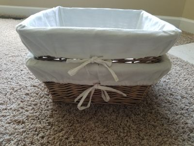 2 Wicker Baskets ~ Organize, Storage, Changing Table