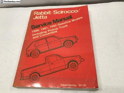 1980-82 VW Rabbit Scirocco Official Service Manual