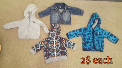 Baby Boy 3 to 6 months jackets/hoodies