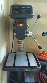 Craftsman 17 Floor model drill press and accessories