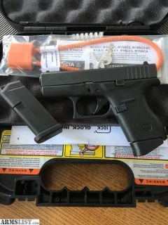 For Sale: Glock 42 .380 Auto; Like New In Box
