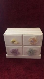Solid wood 4 drawer Decor box--- use as is or fix it up as a project