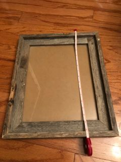 Distressed wooded frame
