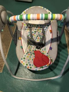 Baby swing with music and timer