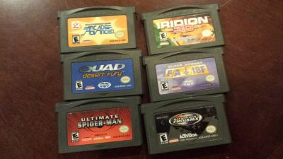 Nintendo Game Boy Advance SP - Flame with 13 games