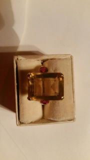 Yellow Gold with Rubies ring. 14 k gold. Beautiful. Has been appraised.Details on the next picture.