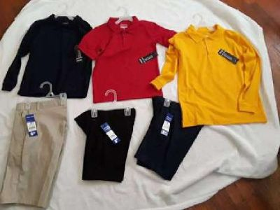 new school uniforms with tags