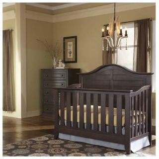 Thomasville Kids Southern Dunes Lifestyle 4-in-1 Convertible Crib , Espresso, Retail $420, New In Box