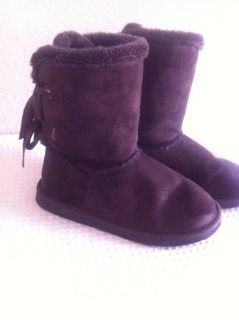 Brown Bow Boots
