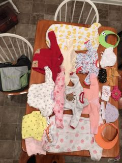 JJ Cole Diaper bag Full of 6 month & 6-9 month winter clothes
