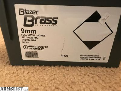 For Sale: 9MM Ammo \ 350 rounds