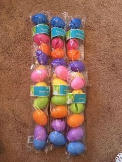 New - set of 6 bright and pastel eggs - 6 packs